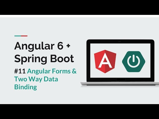 [Angular 6 + Spring Boot] #11 Angular Forms and Data Binding