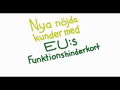 Nya nöjda kunder med EU:s Funktionshinderkort