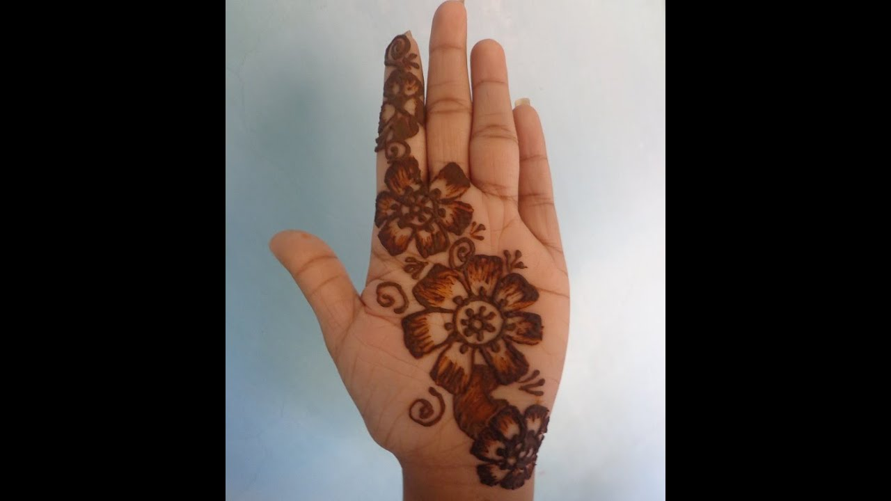 Mehndi Designs Step By Step For Hands : Best simple mehndi design step by doovi