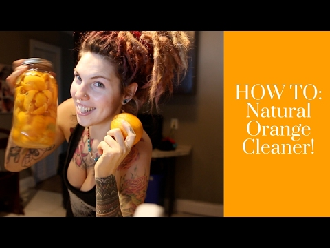 HOW TO: Make ZeroWaste Cleaner With Oranges! VEGAN & NATURAL
