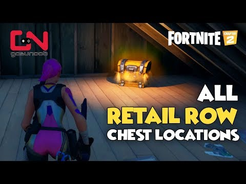 All Retail Row Chest Locations - Fortnite Chapter 2 - Season 1