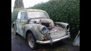 Old Morris Minor Engine Startup