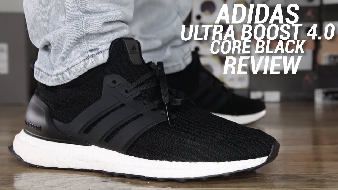 32a1f0ed9 ADIDAS ULTRA BOOST 4.0 CORE BLACK REVIEW - YouTube