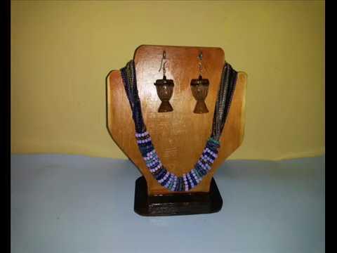 Diy necklace display stand bust( presentoir buste porte collier)