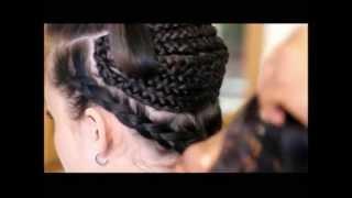CAUCASIAN TRACK EXTENSIONS - BIG HAIR NO-GAP CORNROWS - KIM KARDASHIAN INSPIRED
