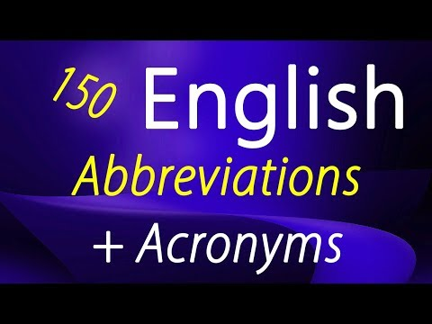 Learn English Speaking, Writing | English Abbreviations, Acronyms For Online & Mobile Communication