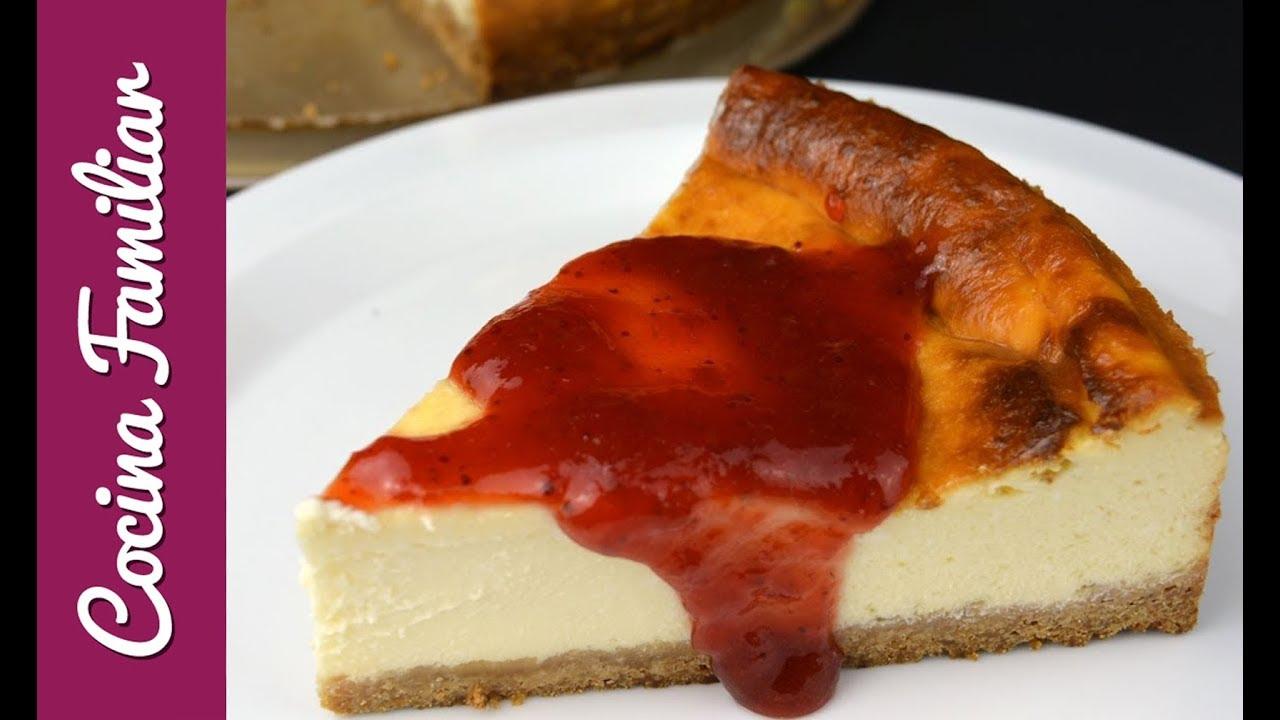 Tarta de queso muy cremosa. Recetas caseras de Javier Romero paso a paso