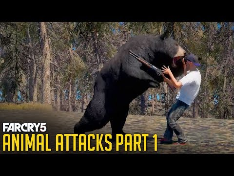 FAR CRY 5 - All Animal Attacks on Human