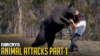 """Gambar cover FAR CRY 5 - All Animal Attacks on Human """"NPC"""" Bob (Animal Attacks Part 1) Animals VS Humans"""