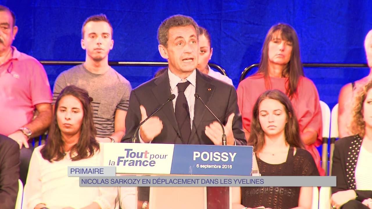 Primaire : Nicolas Sarkozy en campagne dans les Yvelines