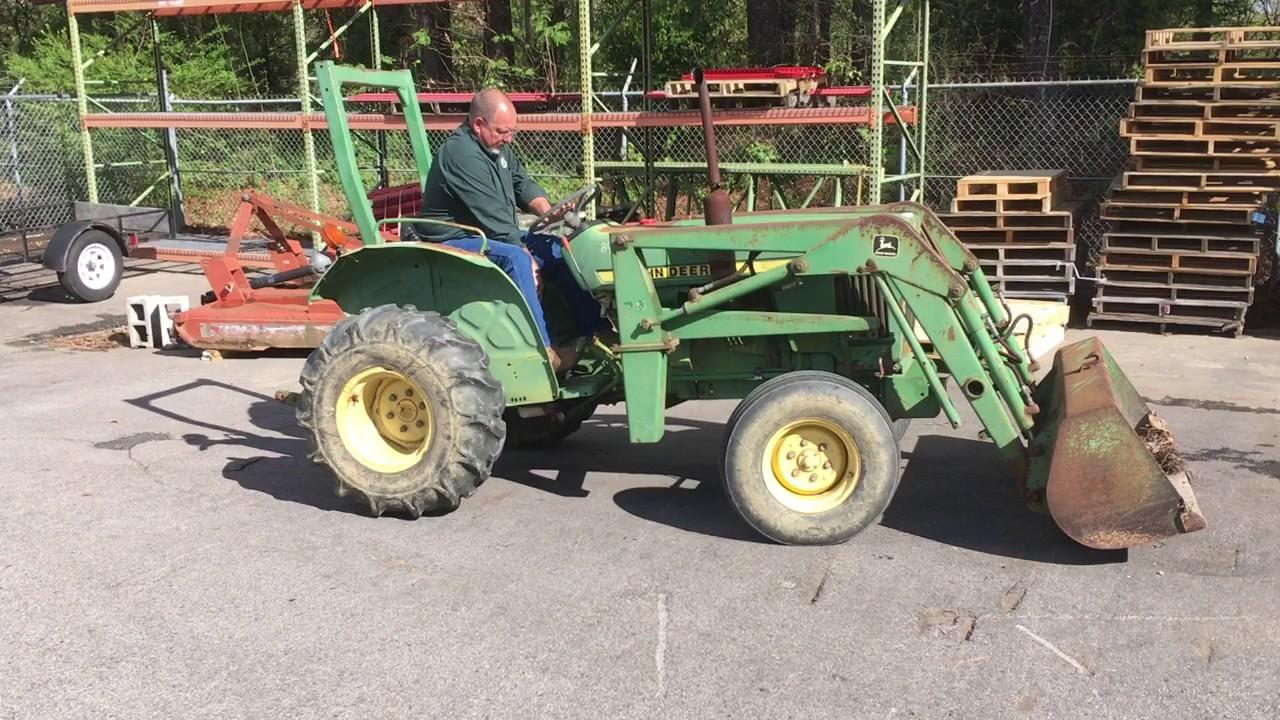 John Deere 850 Parts : Govdeals john deere tractor w loader youtube