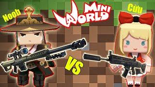 MINI GAME : CUỘC ĐẤU SÚNG GIỮA NOOB VÀ CỪU ** NOOB MUA TRANG PHỤC VIP TRONG MINI WORLD