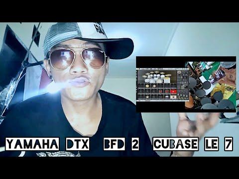 #yamahadtx Review & Demo Yamaha DTX sambung ke BFD CUBASE LE 7. Suara real