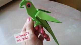 """Оригами """"Попугай"""". Попугай из бумаги"""