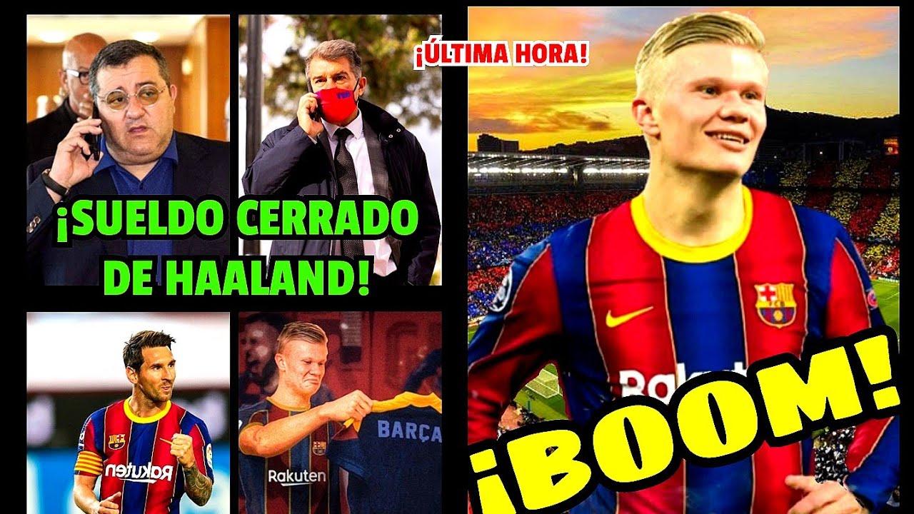 BOMBA DE ÚLTIMA HORA ¡¡HAALAND ACABA DE CERRAR CON LAPORTA SU SUELDAZO EN EL BARCELONA!!