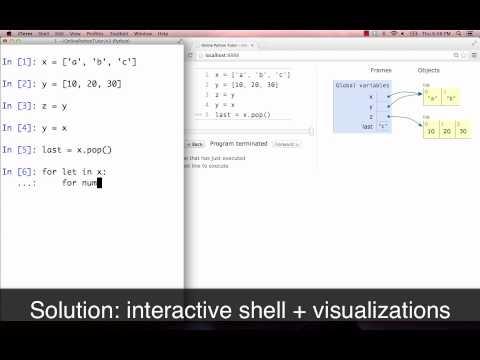 Online Python Tutor (1-minute demo)
