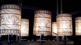 Silverfiligree Dining Table Lamps