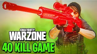 MODERN WARFARE - 40 KILL WARZONE BATTLE ROYALE GAME!!! (Call of Duty: MW Warzone BR)