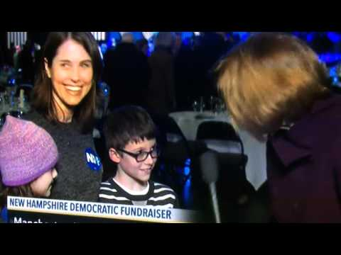 bernie sanders hillary clinton new hampshire democratic fundraiser kids presidential election 2016