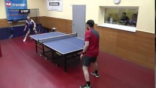 настольный теннис - сайд-спин не страшен - в защите ДШ Лыков С.