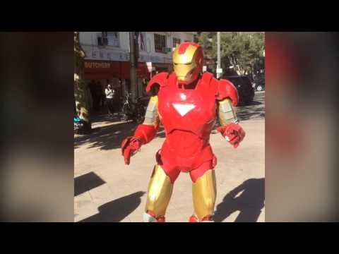 Super-Hero Parties Australia - Dancing IRON MAN