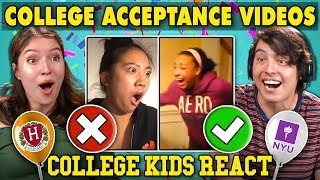 College Kids React To College Kids Reacting To College Reveal Videos Compilation
