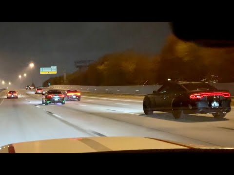 DODGE CHARGERS HIT NEW TOP SPEED IT WAS CRAZY *FREEWAY TAKEOVER*