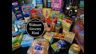 Walmart Grocery Haul & Weekly Meal Plan - May 2018
