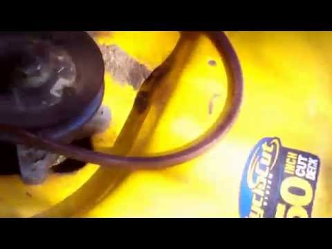 Cub Cadet i1050 2008 how to replace transmission drive belt