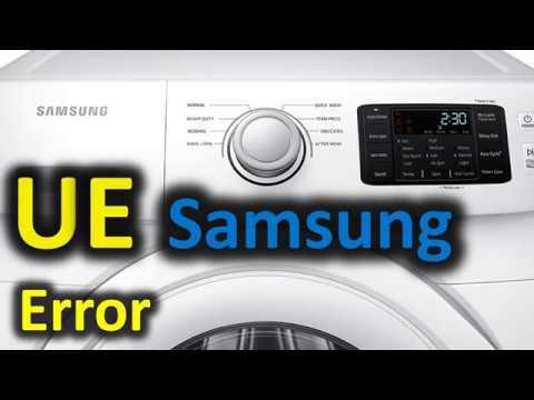 UE Error Code SOLVED!!! Samsung Front Loading Washer Washing Machine
