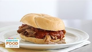 Southern Pulled-Pork Sandwiches - Everyday Food with Sarah Carey