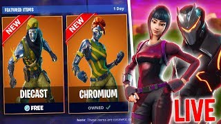 *NEW* DIECAST & CHROMIUM SKINS FREE! - LIVE SQUAD DUOS - FAST STANDARD BUILDER (Fortnite Gameplay)