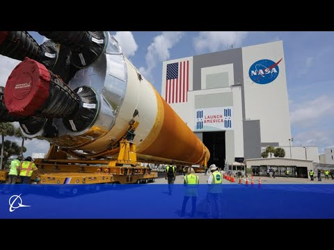 The Boeing-built Core Stage 1 for NASA's Space Launch System Arrives at Kennedy for Integration