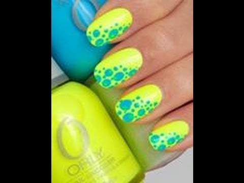 DIY Summer Nails Cute And Easy For Beginners Yellow Blue Nail Art