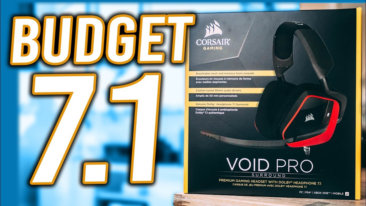 c8579ddbb31 Corsair Void Pro Dolby Surround Unboxing - Best Budget Gaming Headset under  $100!?