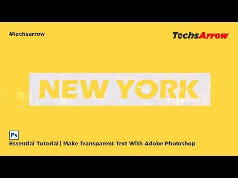 Make Transparent Text Effect | YouTube Thumbnail Idea | Photoshop Tutorial thumbnail