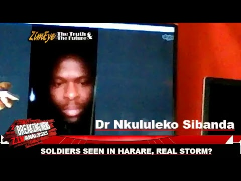 SOLDIERS SEEN IN HARARE, REAL STORM?