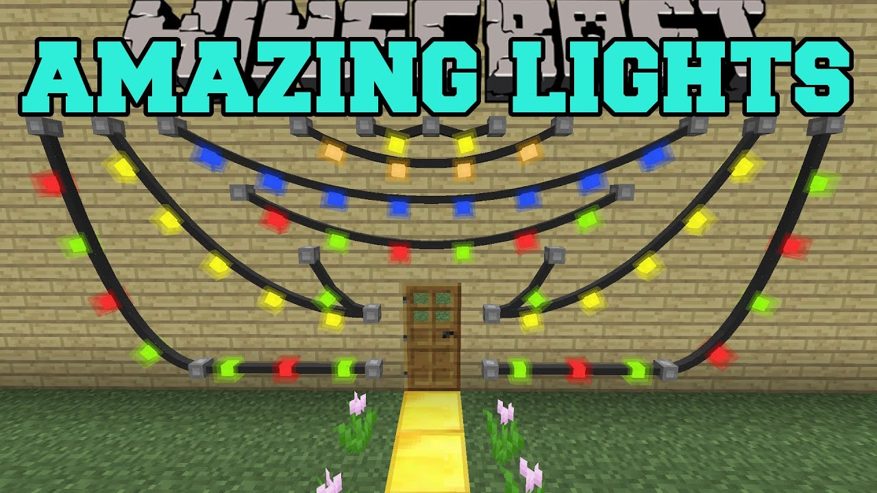 Minecraft Wall Light Mod : Minecraft: AMAZING LIGHTS MOD (GET DECORATING!) Mod Showcase - YouTube