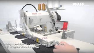 PFAFF 3538 Hemming system with chain cutter and rotating stacker (Jeans)