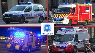 Video collection emergency vehicles - Versailles