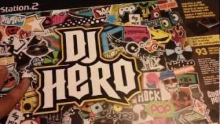 DJ Hero for Playstation 2  Playstation 3 Unboxing and Review [HD]