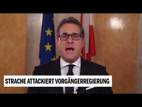 Vizekanzler Strache attackiert Vorgängerregierung