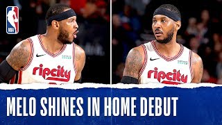 Melo Shines In Home Debut!