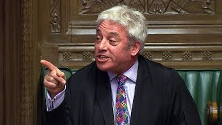 Speaker Bercow criticised for 'Brexit bias' after rejecting new deal vote