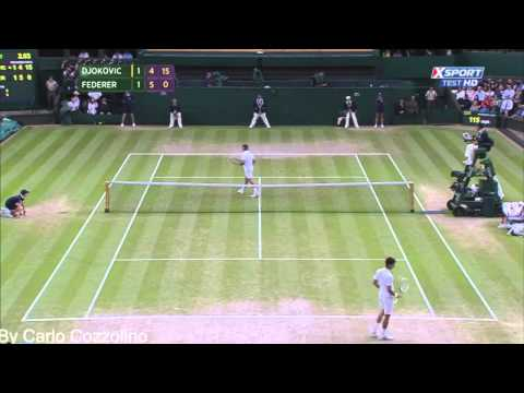 Novak Djokovic vs Roger Federer highlights Wimbledon 2014 HD