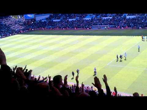Chelsea fans sing Super Frankie Lampard at Villa Park 11/05/13