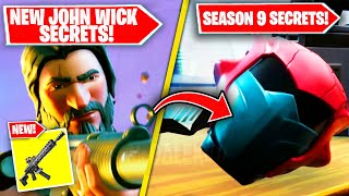 NEW SEASON 9 EASTER EGGS & SECRETS in Fortnite! (NEW John Wick Secrets, Stranger Things & More)