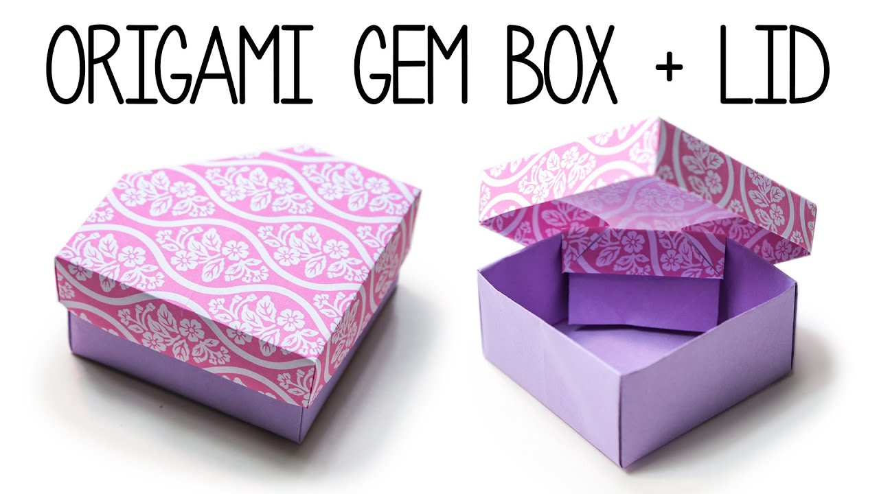 Origami Gem Box With Lid DIY