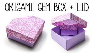 Origami Gem Box with Lid - DIY - Paper Kawaii