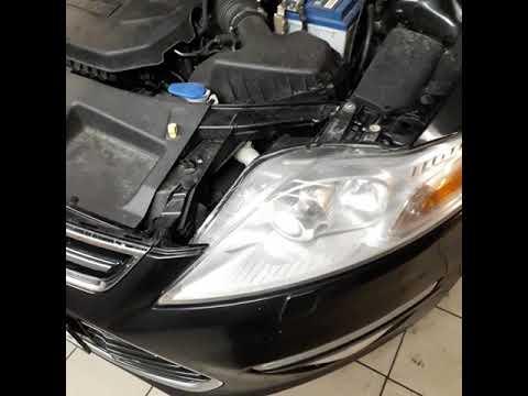 Замена лампочки передних фары, Форд Мондео